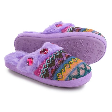 M&F Western Blazin' Roxx Slippers (For Little and Big Girls) in Purple