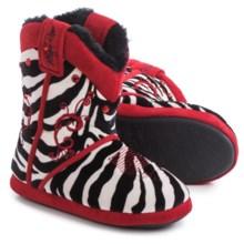 M&F Western Blazin Roxx Zebra Bootie Slippers (For Little and Big Girls) in Zebra - Closeouts