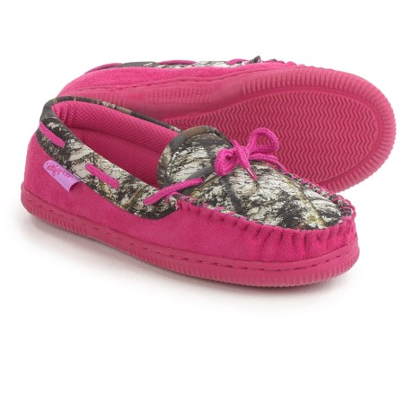 M&F Western Camo Moccasins (For Little and Big Girls) in Pink