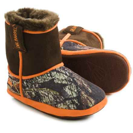 M&F Western DBL Barrel Camo Bootie Slippers (For Little and Big Kids) in Mossy Oak - Closeouts