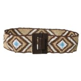 M&F Western Products, Inc. Beaded Stretch Belt (For Women)