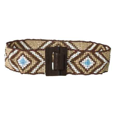 M&F Western Products, Inc. Beaded Stretch Belt (For Women) in Multi/Diamond - Closeouts