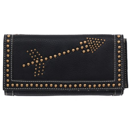 M&F Western Products, Inc. Clair Leather Wallet (For Women) in Black