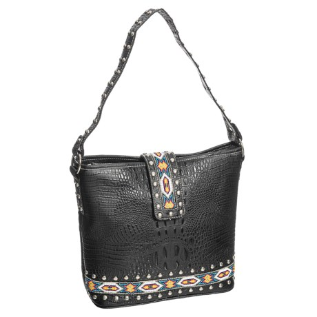 M&F Western Products, Inc. Harley Leather Shoulder Bag (For Women) in Multi