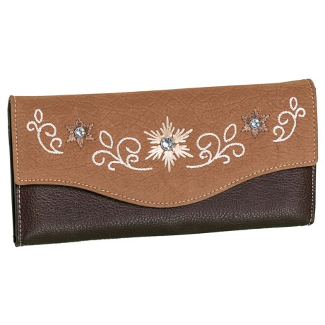 M&F Western Products, Inc. Jodie Leather Clutch (For Women) in See Photo