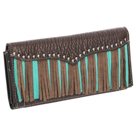 M&F Western Products, Inc. Jolie Leather Clutch (For Women) in Turquoise
