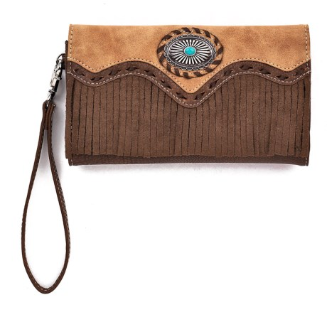 M&F Western Products, Inc. Laverne Leather Clutch (For Women) in See Photo