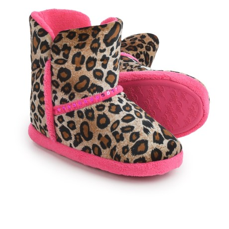 M&F Western Products, Inc. M&F Western Blazin' Roxx Boot Slippers (For Little and Big Girls) in Leopard