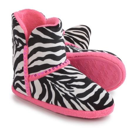 M&F Western Products, Inc. M&F Western Blazin' Roxx Boot Slippers (For Little and Big Girls) in Zebra