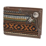 M&F Western Products, Inc. Nacona Bifold Woven & Leather Wallet (For Men)