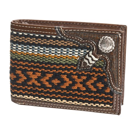 M&F Western Products, Inc. Nacona Bifold Woven & Leather Wallet (For Men) in Multi
