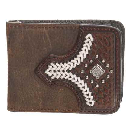 M&F Western Products, Inc. Nacona Slim Fold Money Clip Wallet - Leather (For Men) in Brown - Closeouts