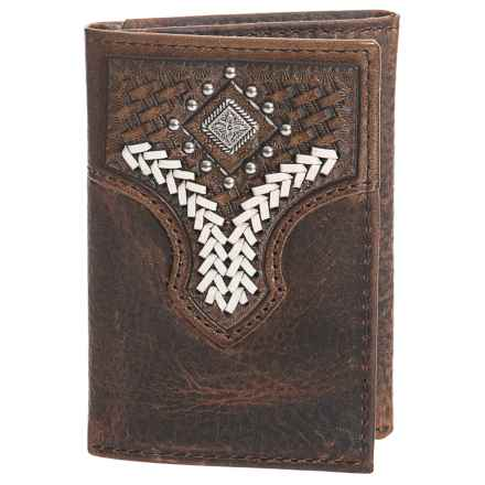 M&F Western Products, Inc. Nacona Trifold Patterned Wallet - Leather (For Men) in Brown - Closeouts