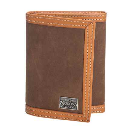 M&F Western Products, Inc. Nacona Trifold Slim Fold Wallet - Suede, Leather (For Men) in Tan - Closeouts