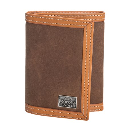 M&F Western Products, Inc. Nacona Trifold Slim Fold Wallet - Suede, Leather (For Men) in Tan