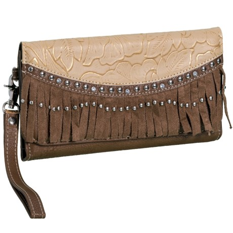 M&F Western Products, Inc. Sandy Leather Clutch in See Photo