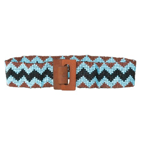 M&F Western Products, Inc. Wide Beaded Stretch Belt (For Women) in Blue