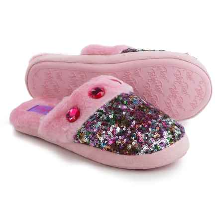 M&F Western Sequin Slippers (For Little and Big Girls) in Multi - Closeouts