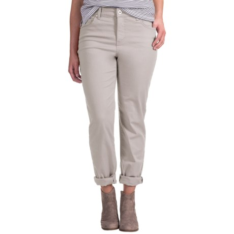 Mandie Perfect Fit Colored Denim Jeans (For Women) in Stone