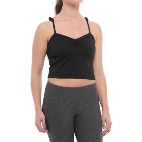 Manduka Cropped Camisole - Built-In Shelf Bra (For Women) in Black
