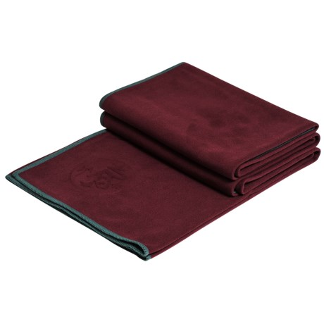 "Manduka eQua® Standard Yoga Mat Towel - 72x26.5"" in Port"
