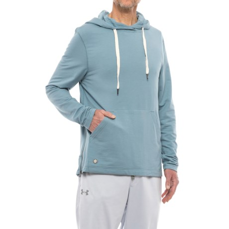 Manduka Intentional Hoodie - Organic Cotton (For Men) in Steel Blue