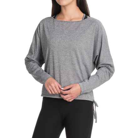 Manduka Kosha Open Back Shirt - Long Sleeve (For Women) in Dark Grey Heather - Closeouts