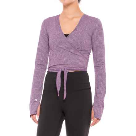 Manduka Kosha Shirt Wrap - Long Sleeve (For Women) in Heather Root - Closeouts