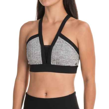 Manduka Linea Sports Bra - Medium Impact (For Women) in Herringbone - Closeouts