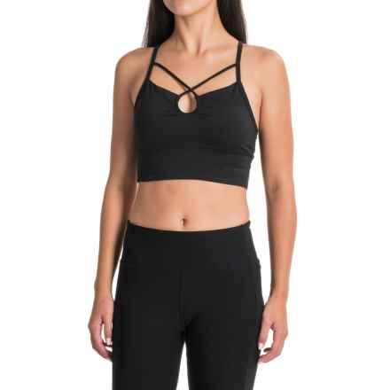 Manduka Luminous Sports Bralette - Medium Impact (For Women) in Black - Closeouts