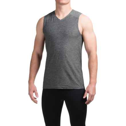 Manduka Minimalist Muscle Tank Top (For Men) in Heather Grey - Closeouts