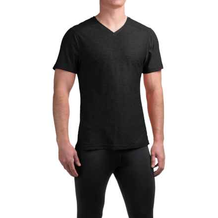 Manduka Minimalist T-Shirt - V-Neck, Short Sleeve (For Men) in Black - Closeouts