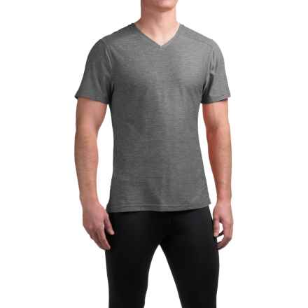 Manduka Minimalist T-Shirt - V-Neck, Short Sleeve (For Men) in Heather Grey - Closeouts