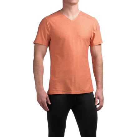 Manduka Minimalist T-Shirt - V-Neck, Short Sleeve (For Men) in Ochre - Closeouts