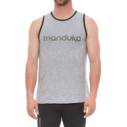 Manduka Organic Cotton Tank Top (For Men) in Heather Grey - Closeouts