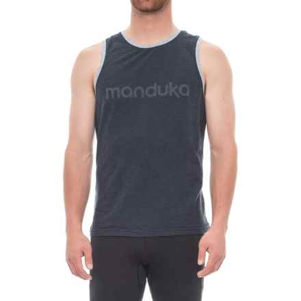 Manduka Organic Cotton Tank Top (For Men) in Heather Midnight - Closeouts
