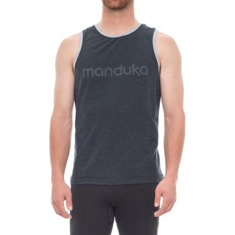 Manduka Organic Cotton Tank Top (For Men) in Heather Midnight