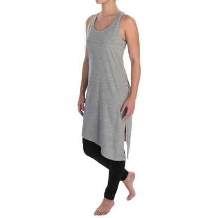 Manduka Racerback Dress - Sleeveless (For Women) in Grey/White - Closeouts