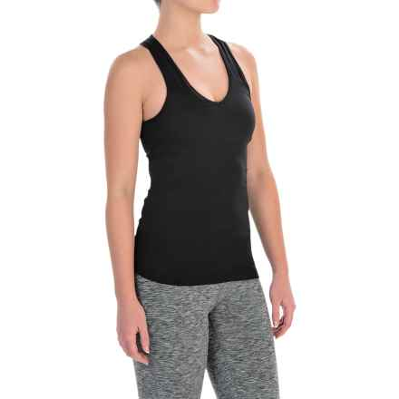 Manduka Racerback Tank Top (For Women) in Black - Closeouts