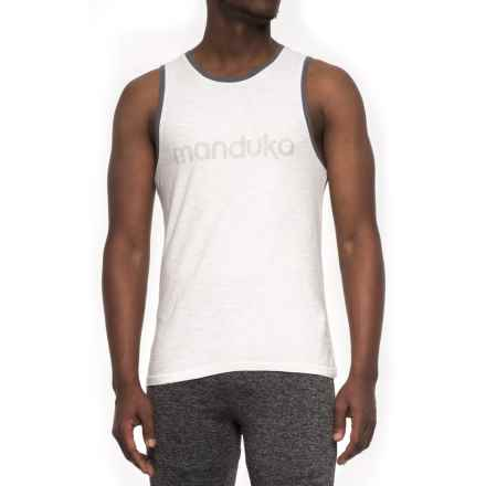 Manduka Tank Top (For Men) in White - Closeouts