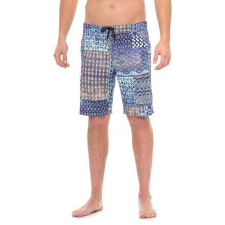 Manduka The Homme Redux Shorts (For Men) in Havana Patchwork - Closeouts