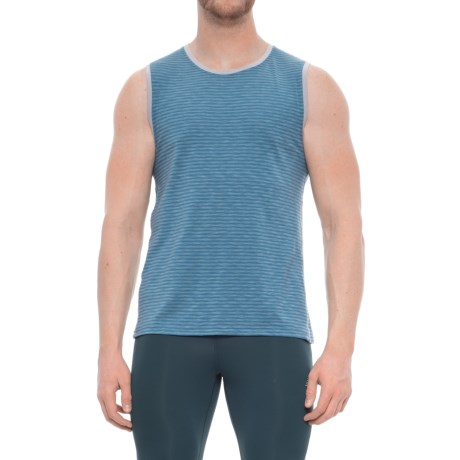 Manduka Transcend Tank Top (For Men) in Aqua Stripe