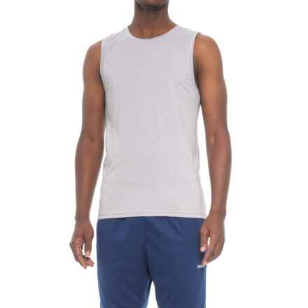 Manduka Transcend Yoga Tank Top - Fitted (For Men) in Dawn Grey - Closeouts