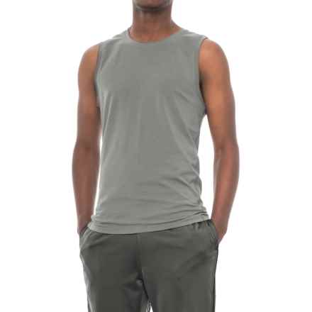 Manduka Transcend Yoga Tank Top - Fitted (For Men) in Fog - Closeouts
