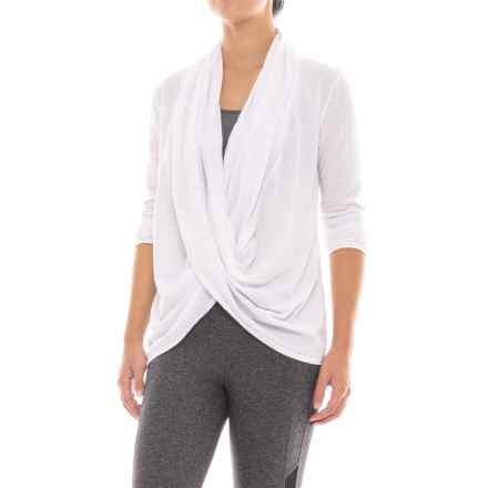 Manduka Twist-Front Shirt - Organic Cotton, Long Sleeve (For Women) in White - Closeouts