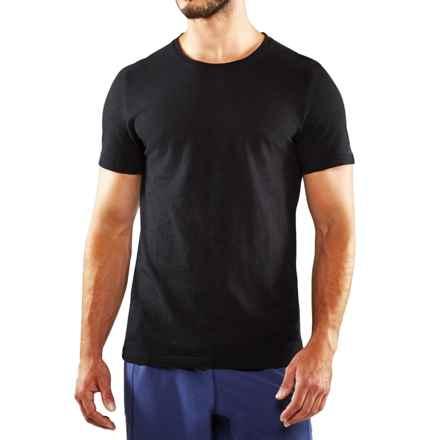 Manduka Yoga T-Shirt - Organic Cotton, Short Sleeve (For Men) in Black - Closeouts