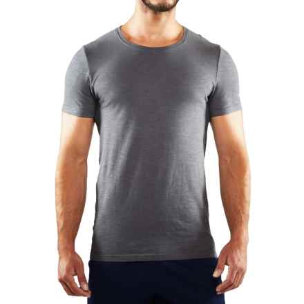 Manduka Yoga T-Shirt - Organic Cotton, Short Sleeve (For Men) in Thunder - Closeouts