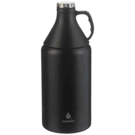 Manna Apex Stainless Steel Insulated Growler - 64 oz., Detachable Cone Cup in Onyx - Closeouts