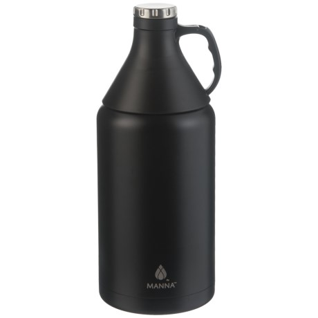 Manna Apex Stainless Steel Insulated Growler - 64 oz., Detachable Cone Cup