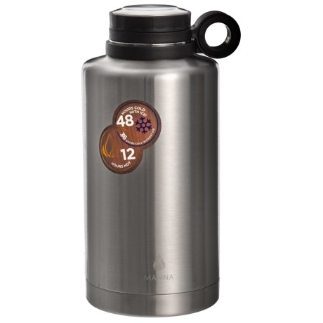 Manna Insulated Stainless Steel Ring Growler - 64 fl.oz in Silver
